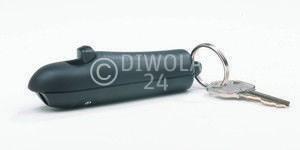 Sabre Red, kleines, kompaktes Pfefferspray, 4,5 Gramm Inhalt, für den Schlüsselanhänger m. Wechselkartusche, schwarz, Art.-Nr.: 201SF01BKDE