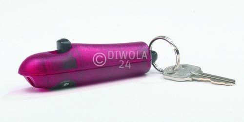 Sabre Red, kleines, kompaktes Pfefferspray, 4,5 Gramm Inhalt, für den Schlüsselanhänger m. Wechselkartusche, purple, Art.-Nr.: 201SFPRDE