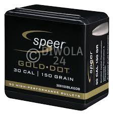 .30, 168 grain, Speer Geschosse, TM-Gold Dot, Art.-Nr.: 308168GDB