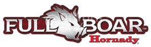"Hornady Aufkleber ""Full Boar"", weiß und rot, Größe ca. 13 x 4 cm, Art.-Nr.: 98010"