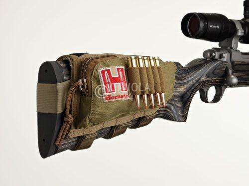 Hornady Schaft-Patronenetui für 5 Patronen, bräunlich, linksseitig, Art.-Nr.: 99109