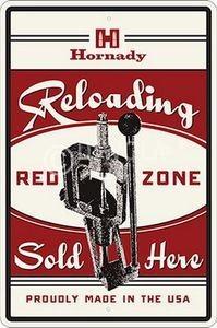 """Hornady Nostalgie-Blechschild """"RELOADING REDZONE"""", Art.-Nr.: 99130"""