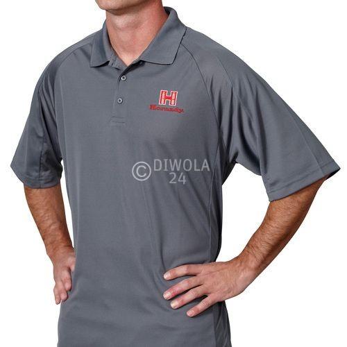 Hornady Herren Poloshirt, grau, Größe XL, Art.-Nr.: 99774XL