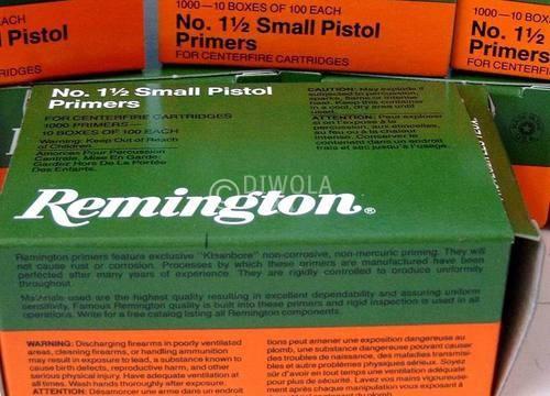 Reminigton 1½, Small Pistol Zündhütchen