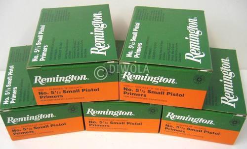 Reminigton 5½, Small Pistol Magnum Zündhütchen