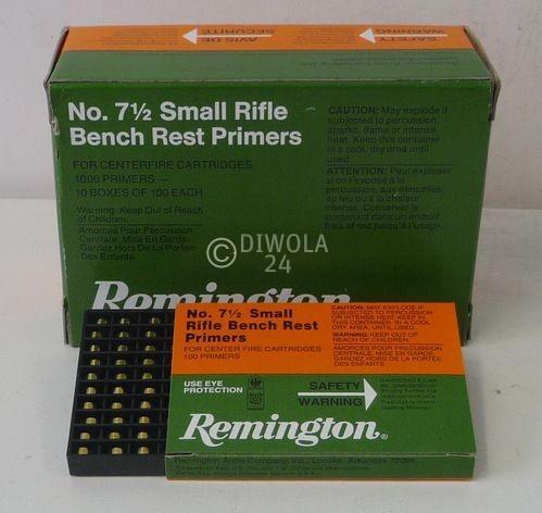 Reminigton 7½, Small Rifle Bench Rest Zündhütchen