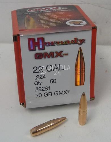 .224, 70 grain, Hornady Geschosse, GMX, Art.-Nr.: 2281