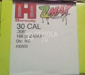 .308, 168 grain, Hornady Geschosse, Z-Max / Zombie, Art.-Nr.: 30505