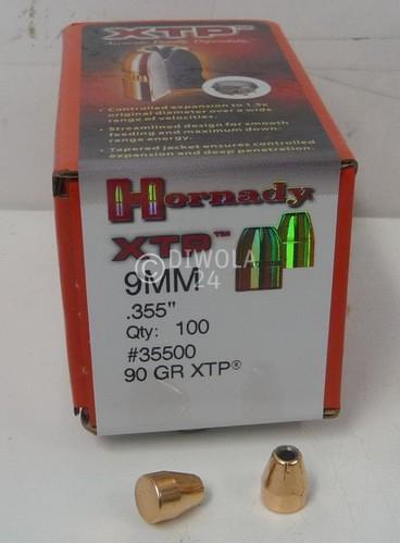 .355, 90 grain, Hornady Geschosse, HP/XTP, Art.-Nr.: 35500