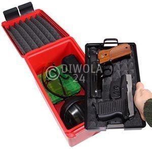 MTM Waffen- und Zubehörtransportbox, Innenmaße 27,5 x 15 x 18 cm, Farbe rot, Art.-Nr.: HCC-30