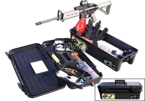 MTM, Wartungs- und Reinigungsbox für auf den Schießstand, Deckel abnehmbar und herausnehmbaren Einsätzen, Größe 62 x 29 x 21 cm, Schwarz, Art.-Nr.: TRB40