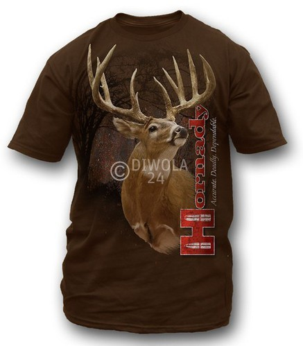 "Hornady T-Shirt  "" DRY BRUSH BUCKS "" , Größe XL, Art.-Nr.: 91115181XL"