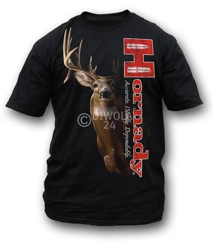 "Hornady T-Shirt  "" SHADOW WHITETAIL "" , Größe L, Art.-Nr.: 91115184L"