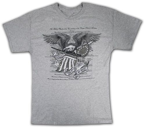 "Hornady T-Shirt  "" 2ND AM EAGLE "" , Größe L, Art.-Nr.: 91115186L"