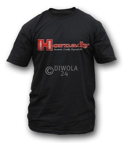 """Hornady T-Shirt  """" LOGO TEE """" , Größe L, Art.-Nr.: 91115344L"""