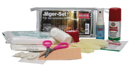 BALLISTOL-Set Jäger, Inhalt u.a. BALLISTOL Spray, Stichfrei, Pflaster, Mullbinde u.v.m.