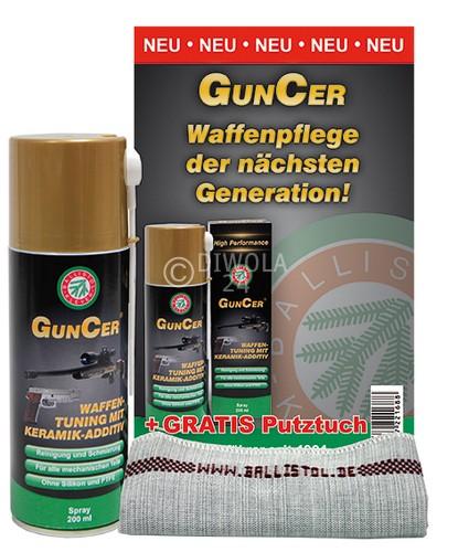 BALLISTOL GunCer Waffenölspray, Dose mit 200 ml Inhalt, zusätzliches Reinigungstuch gratis