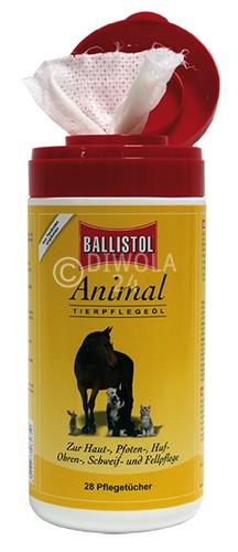 BALLISTOL Animal Pflegetücher, Spenderbox mit 28 Stück Inhalt