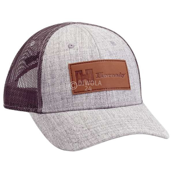 Hornady Cap grau mit Lederlogo, Art.-Nr.: 99261